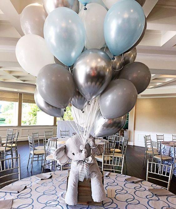 adornos para mesas con globos