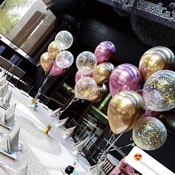 centros de mesa con globos