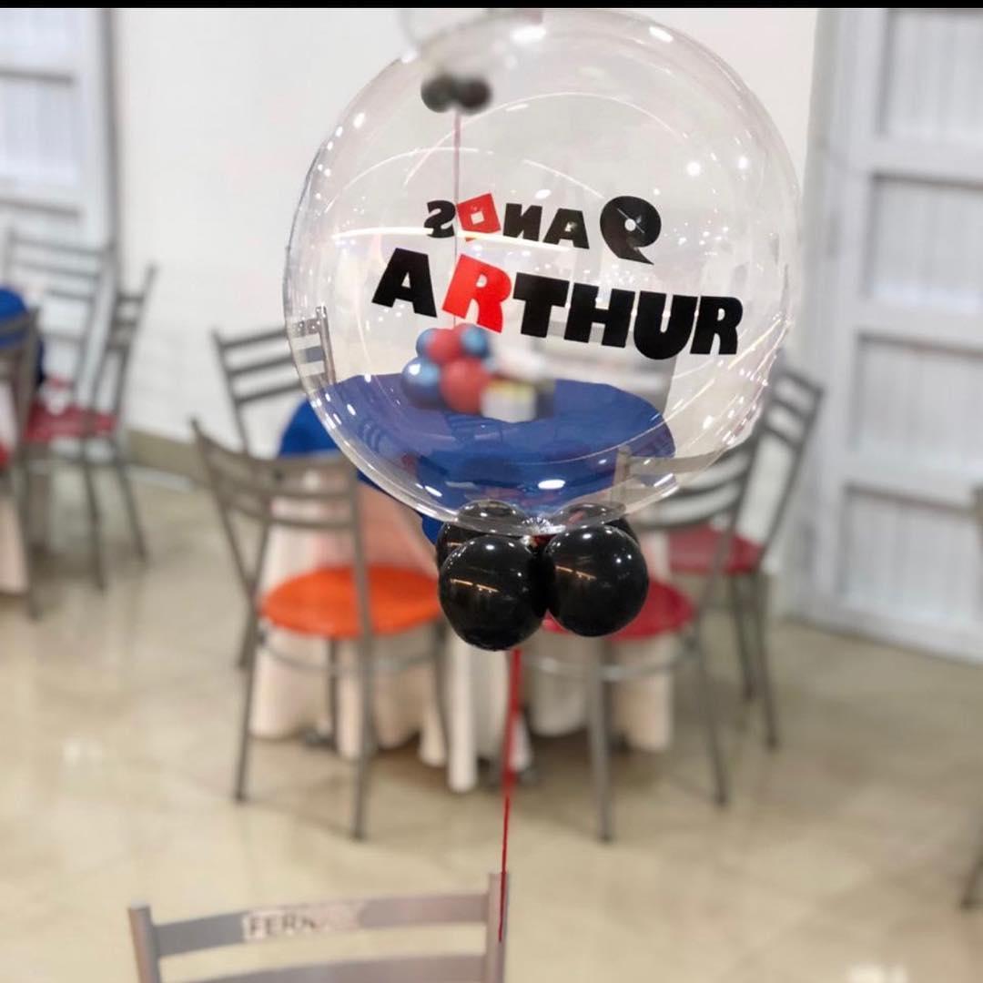 centros de mesa con globos para fiestas infantiles