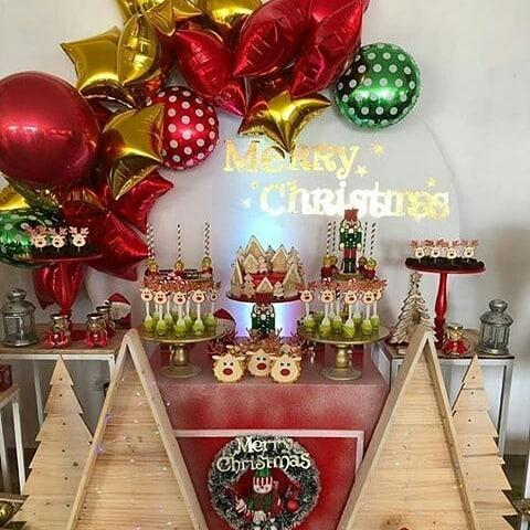 como decorar una fiesta tematica de navidad