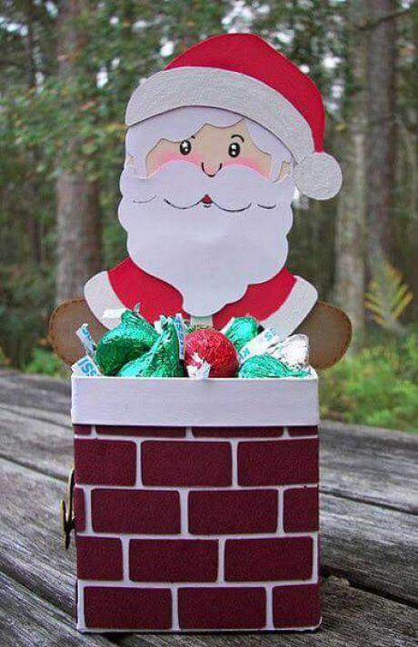 dulceros navideños con cajas de leche