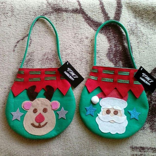 dulceros navideños de fieltro