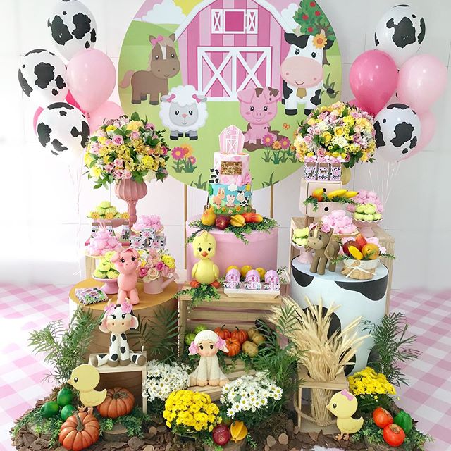 fiesta granja de zenon para niña