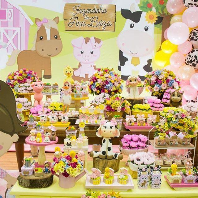 mesa de dulces de la granja de zenon