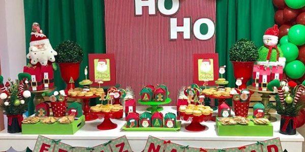 mesa de postres tematica de navidad