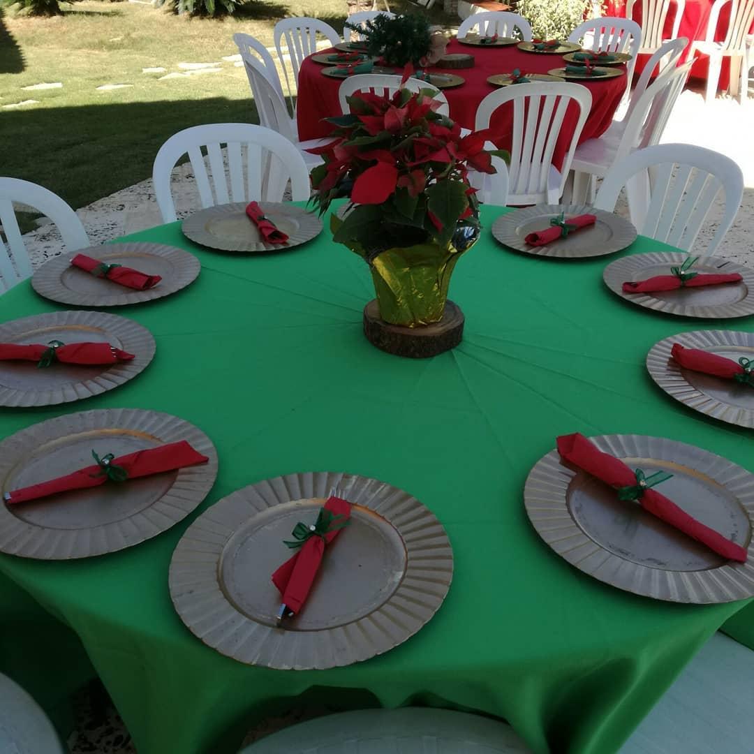 mesa para fiesta de navidad