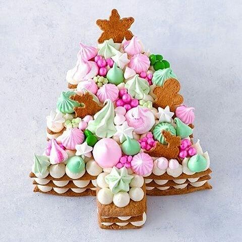 pastel de arbol de navidad