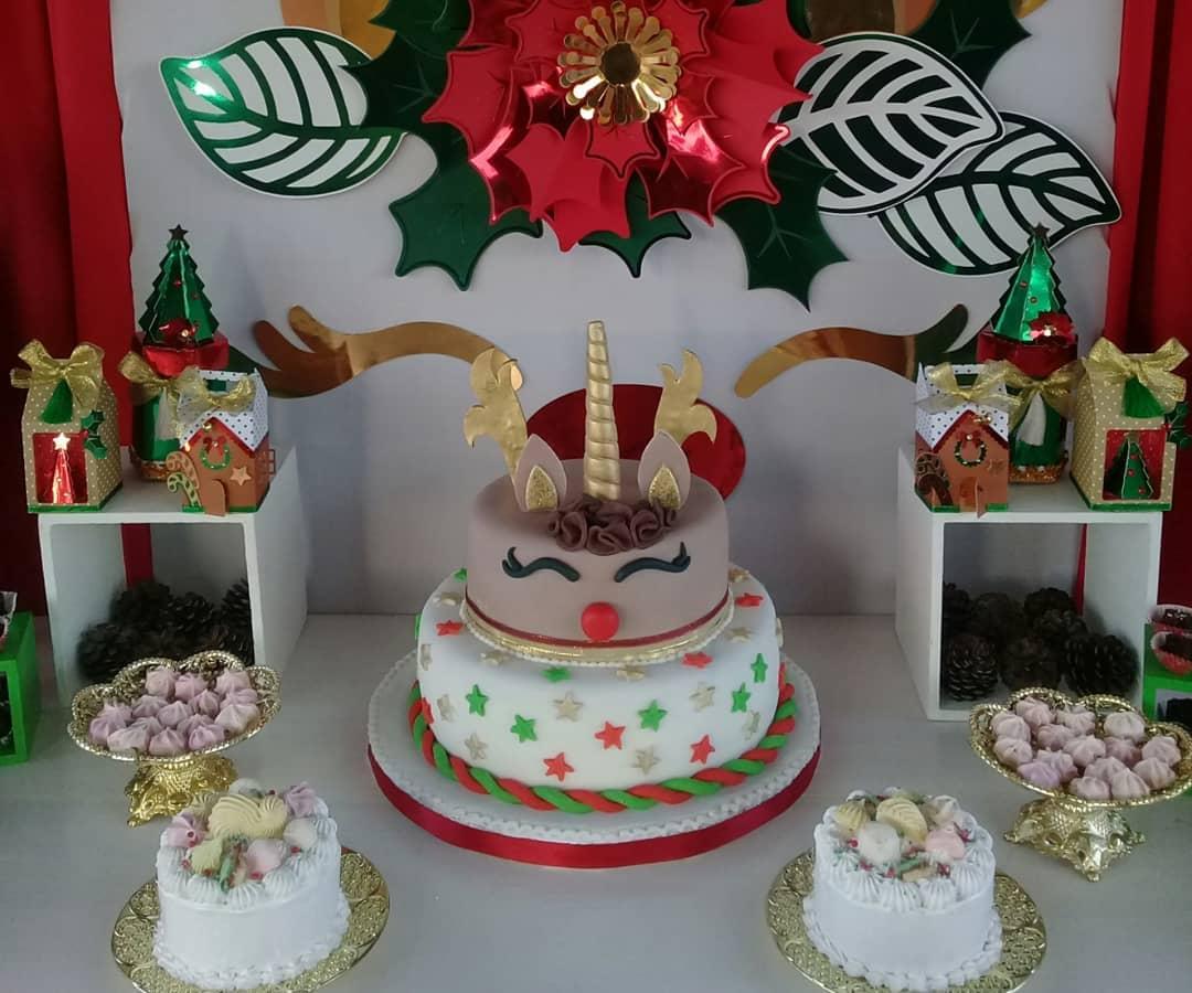 pastel para una fiesta en navidad