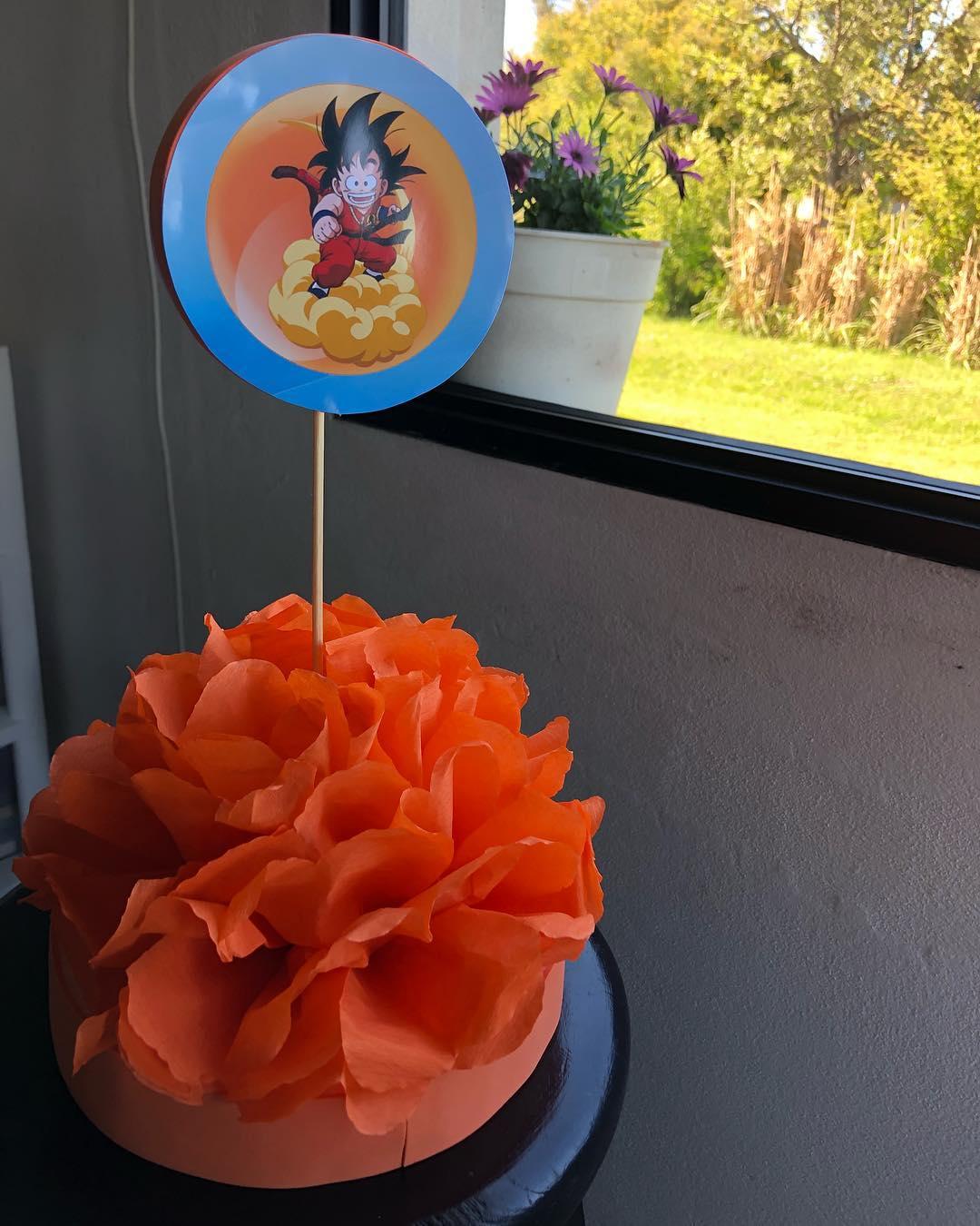centro de mesa cumpleaños de dragon ball z