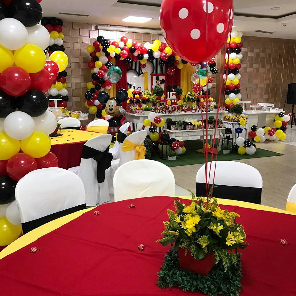 centros de mesa de mickey mouse para fiestas infantiles