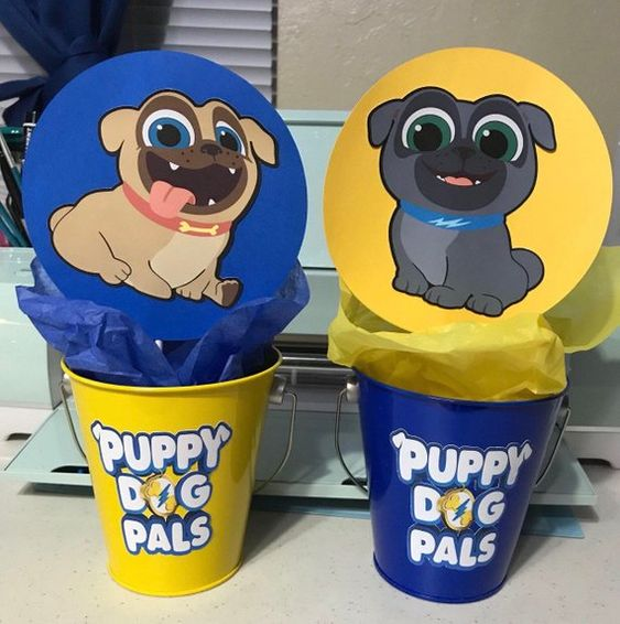 centros de mesa puppy dog pals party