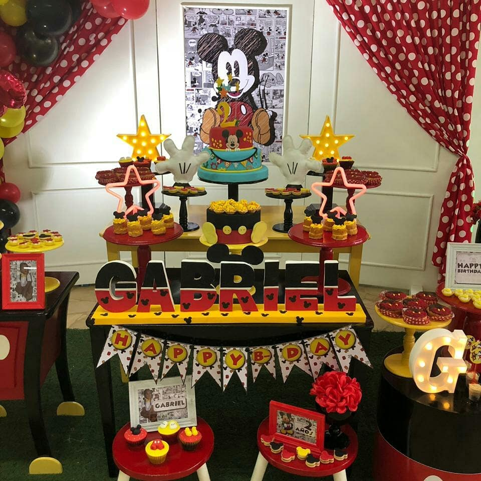 como decorar una fiesta infantil de mickey mouse
