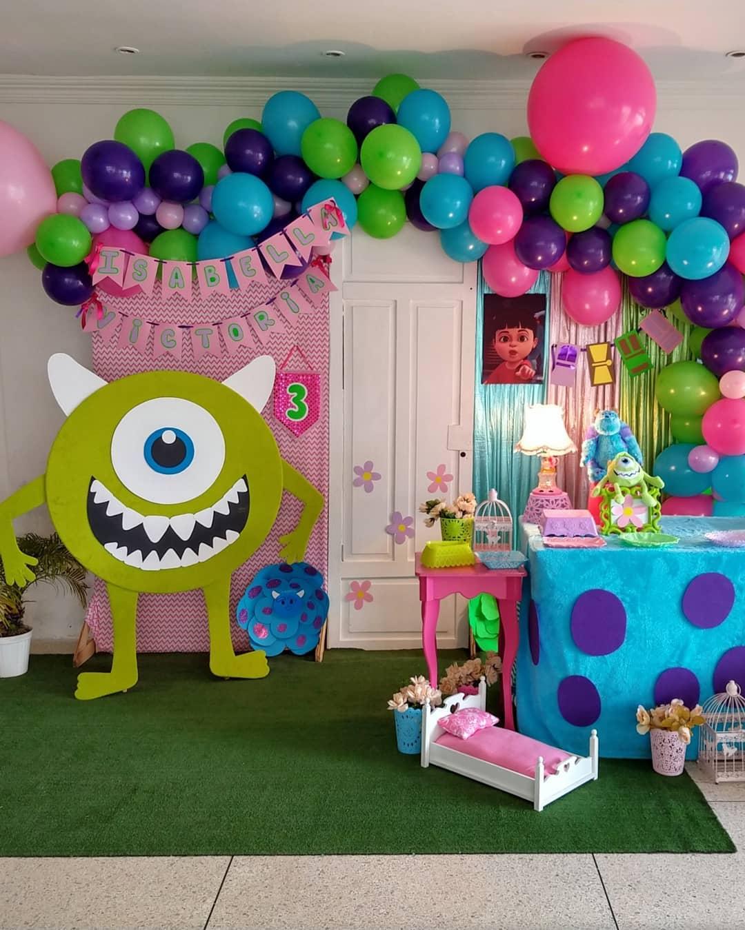 cumpleaños tematicos de monster inc para niña