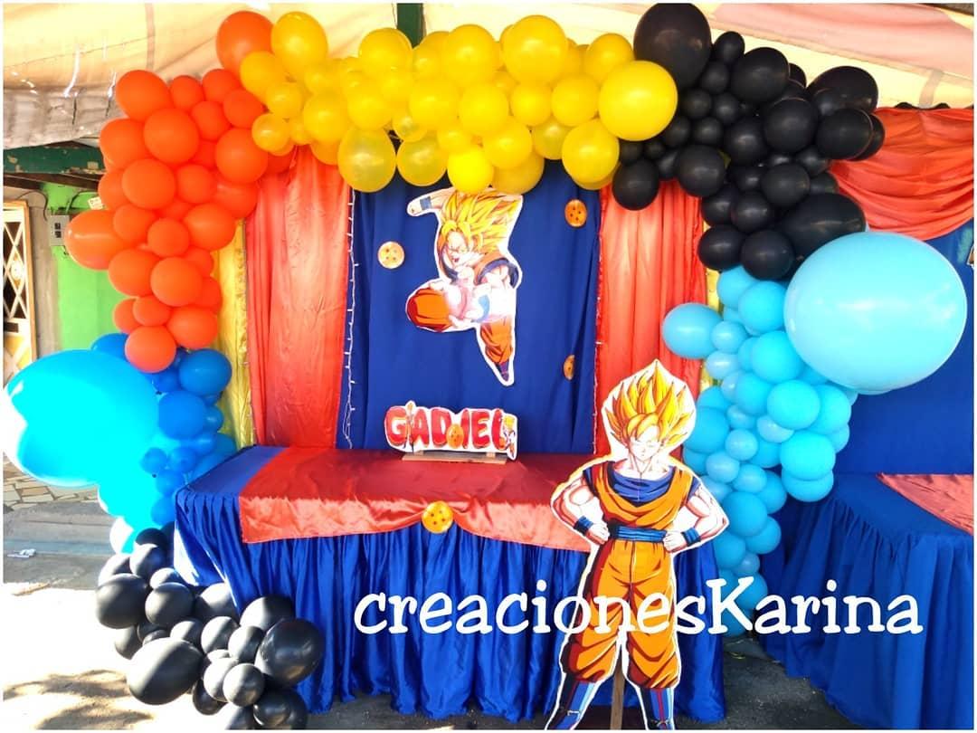 decoracion de dragon ball super para cumpleaños
