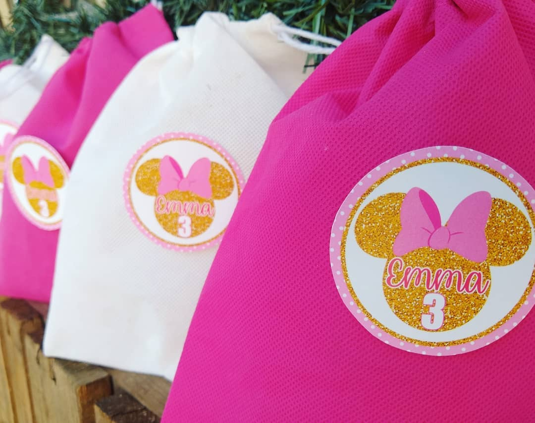 dulceros de minnie rosa