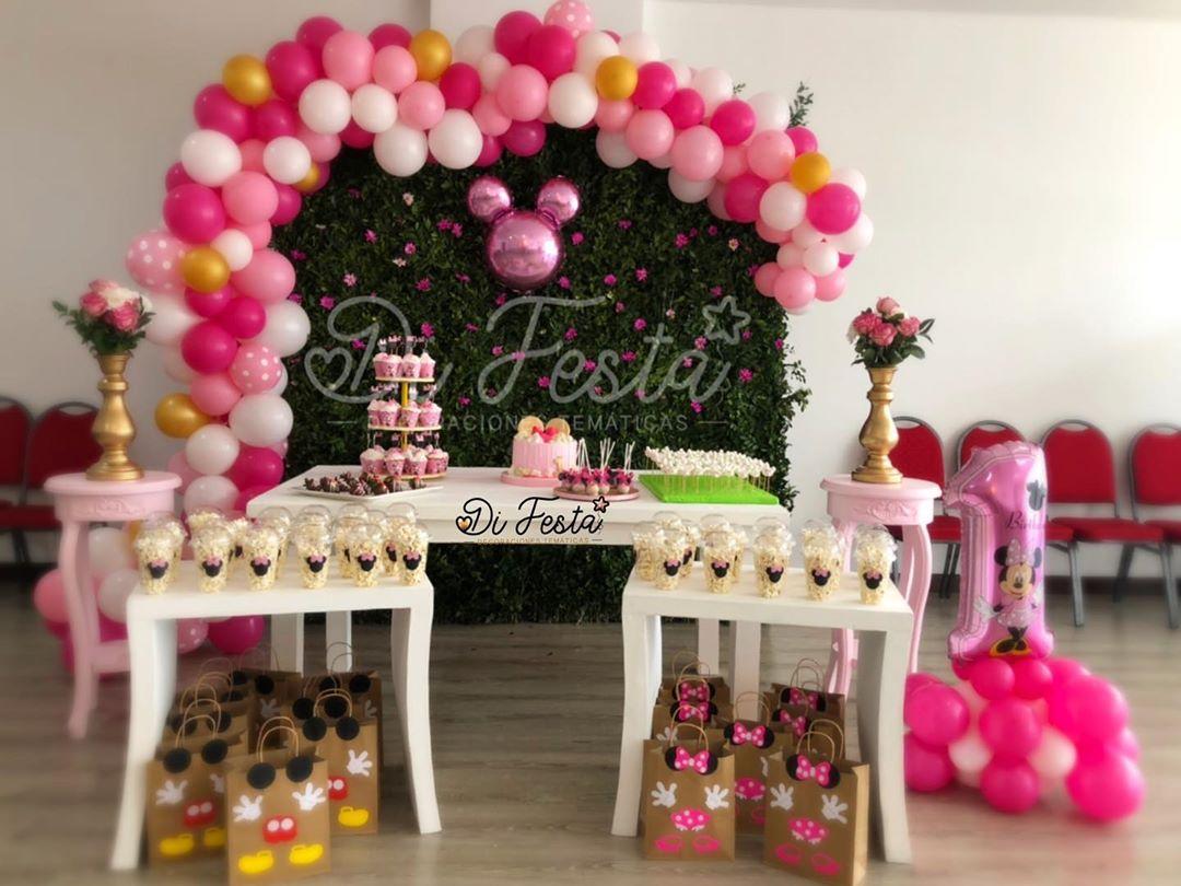 fiesta de minnie mouse rosa decoracion