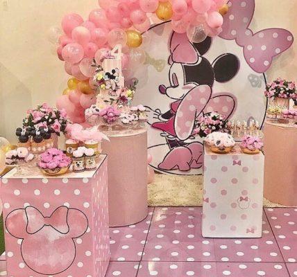 fiesta de minnie rosa