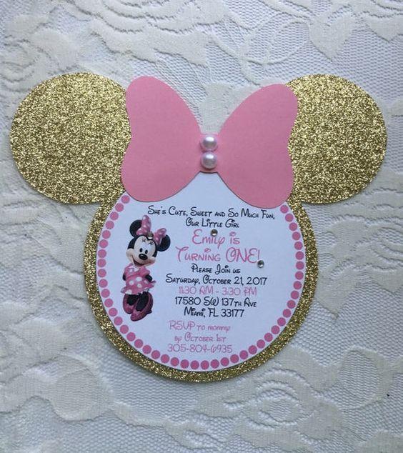 invitaciones para minnie rosa