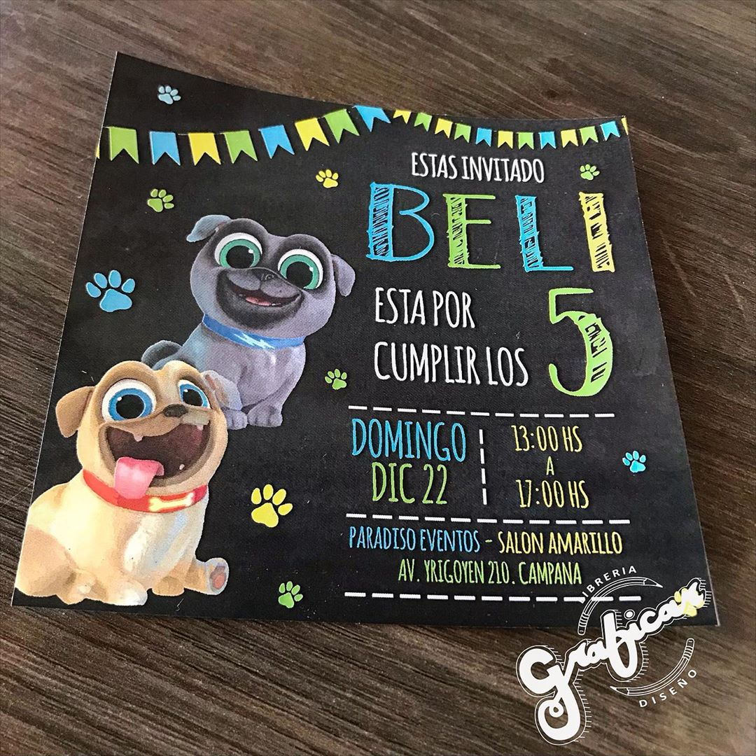 invitaciones puppy dog pals