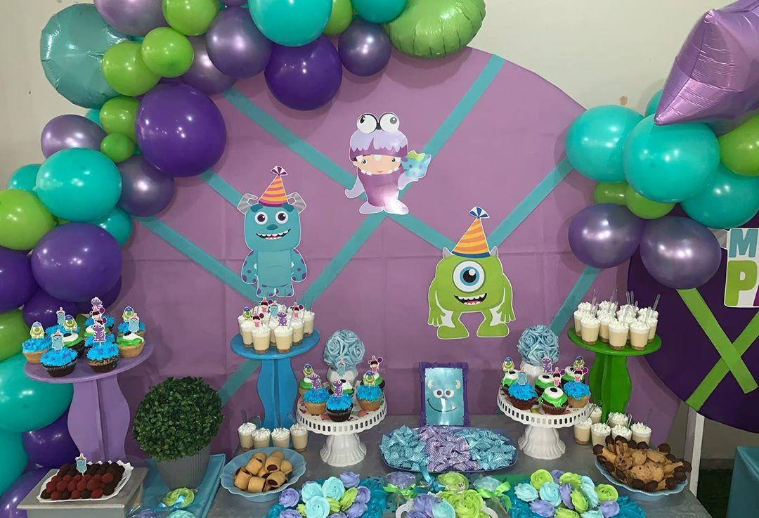 mesa de dulces de boo monster inc