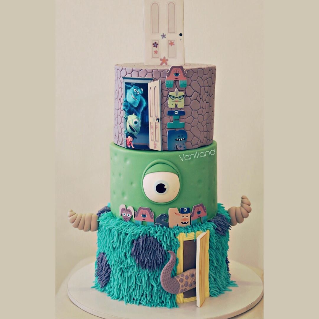 pastel de boo monster inc