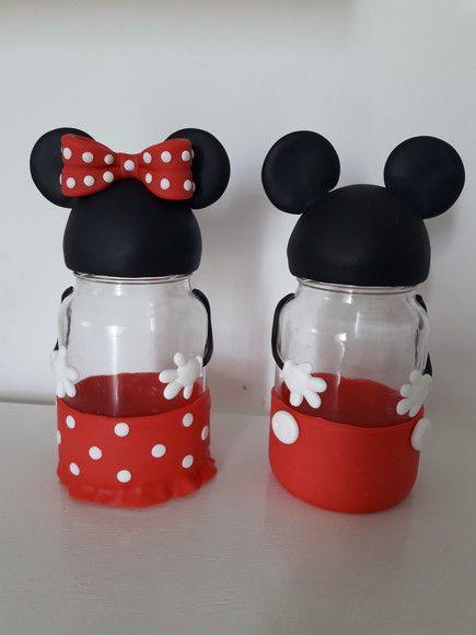 bolos de mickey mouse con botellas de plastico