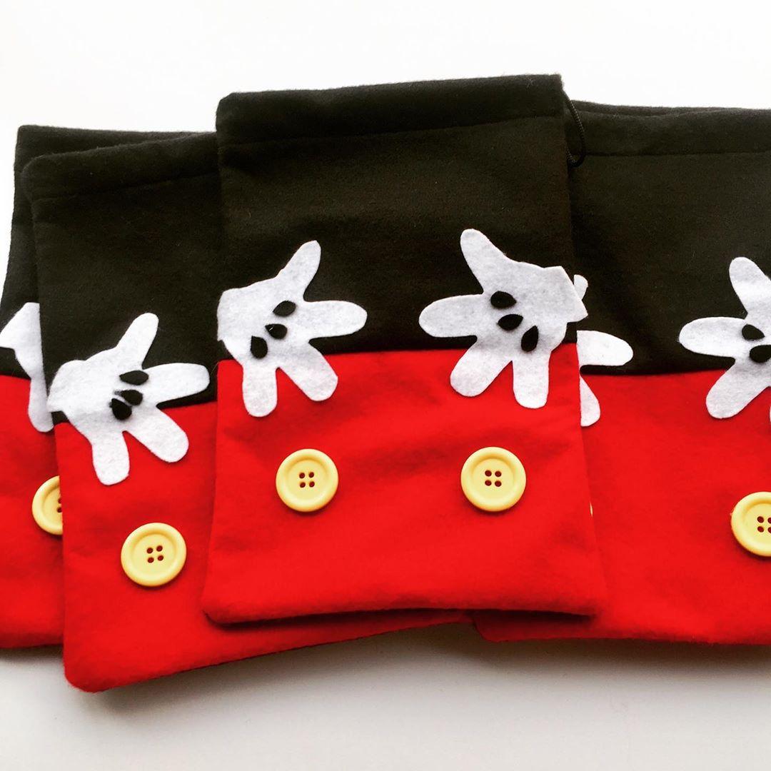 bolsas de fieltro de mickey