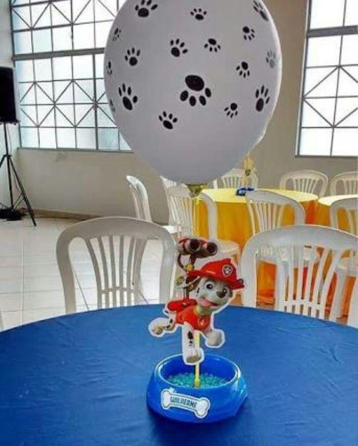centros de mesa paw patrol niño
