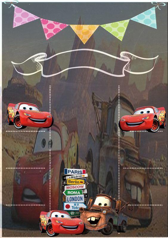 invitaciones de cars