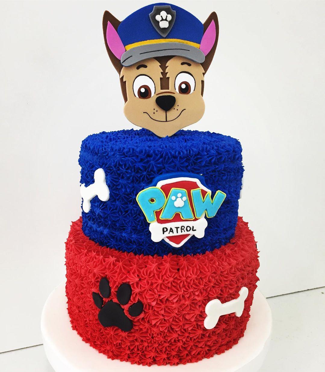 pastel de paw patrol niño