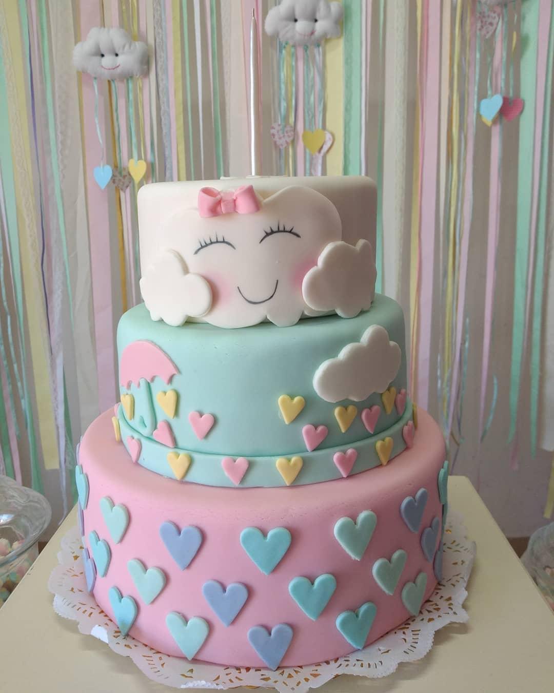 pastel lluvia de amor
