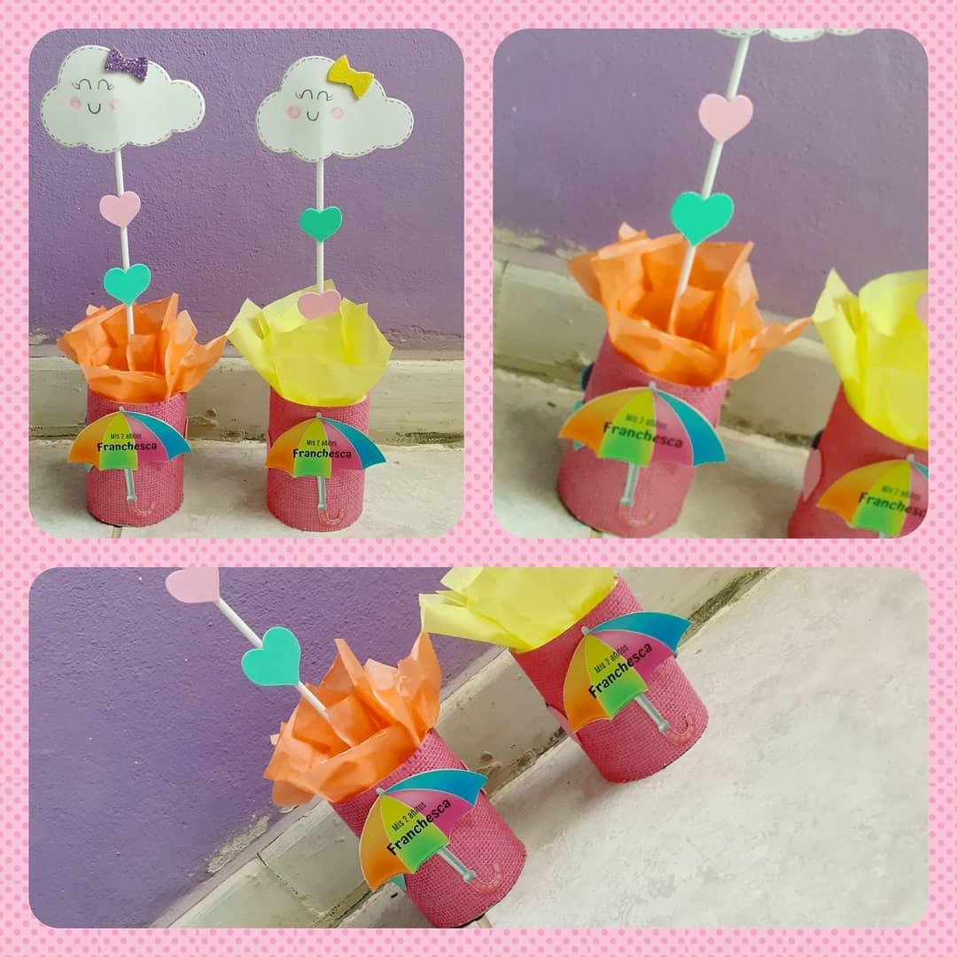 lluvia de amor centro de mesa