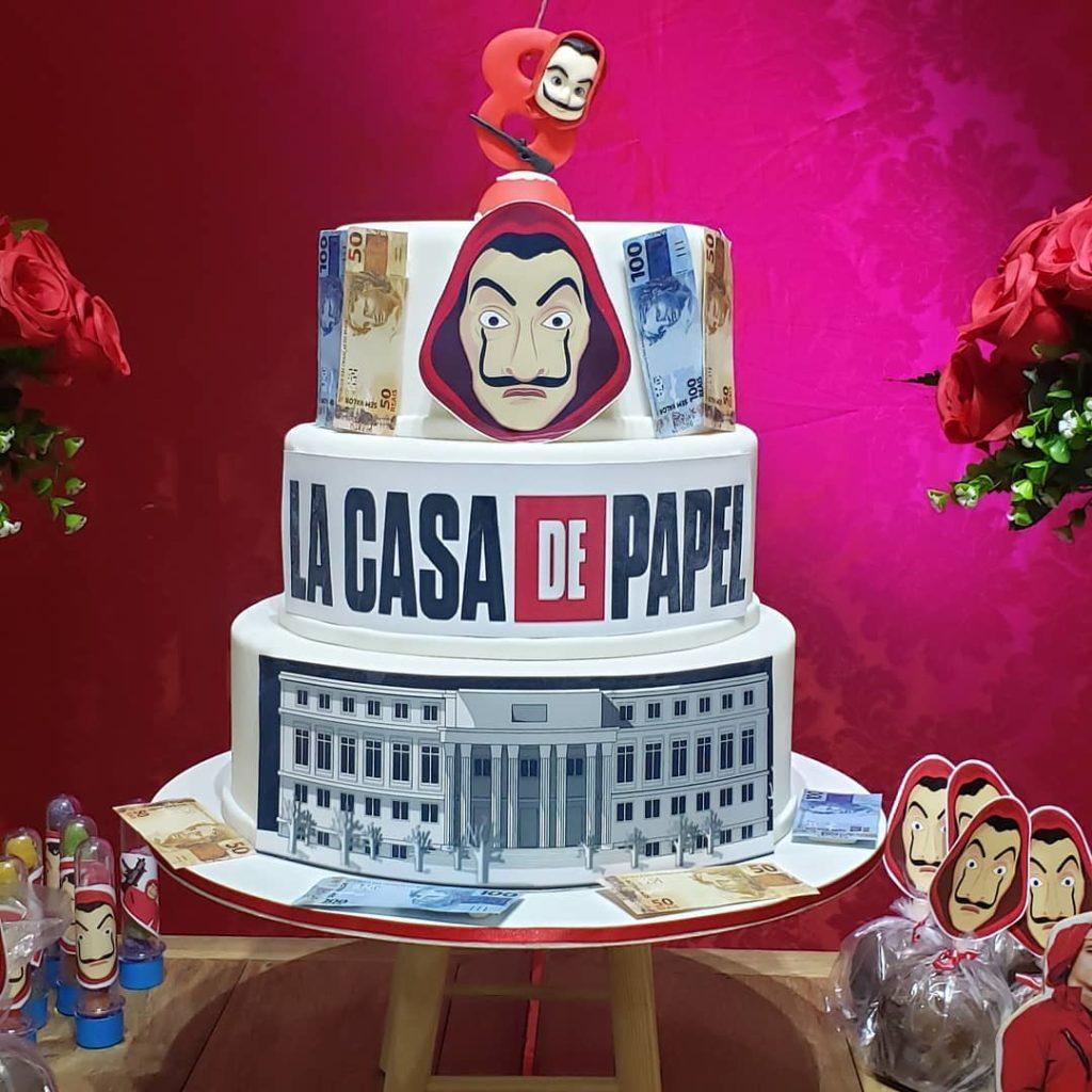 tarta de la casa de papel