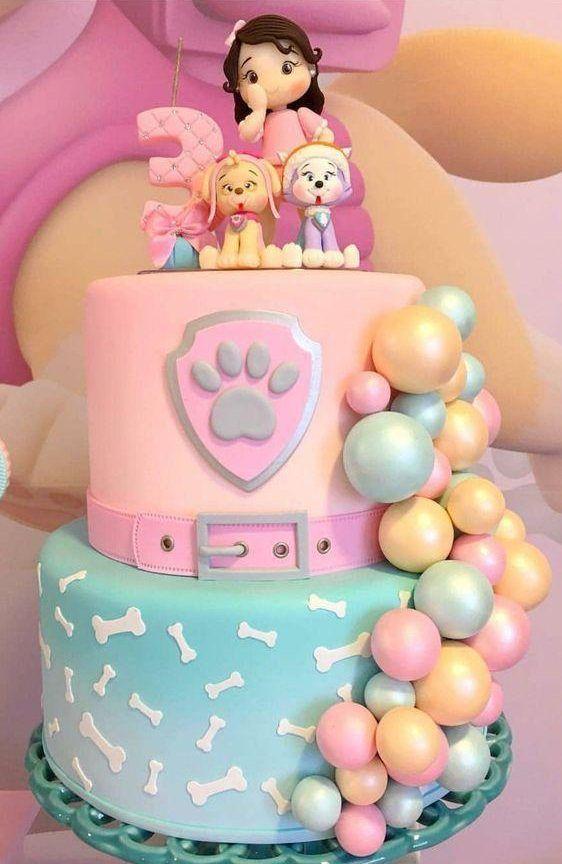 torta paw patrol niña