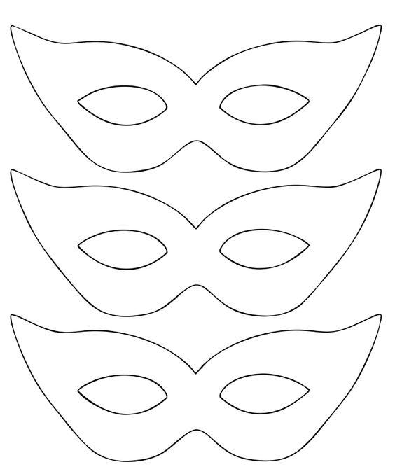 molde de mascara de carnaval