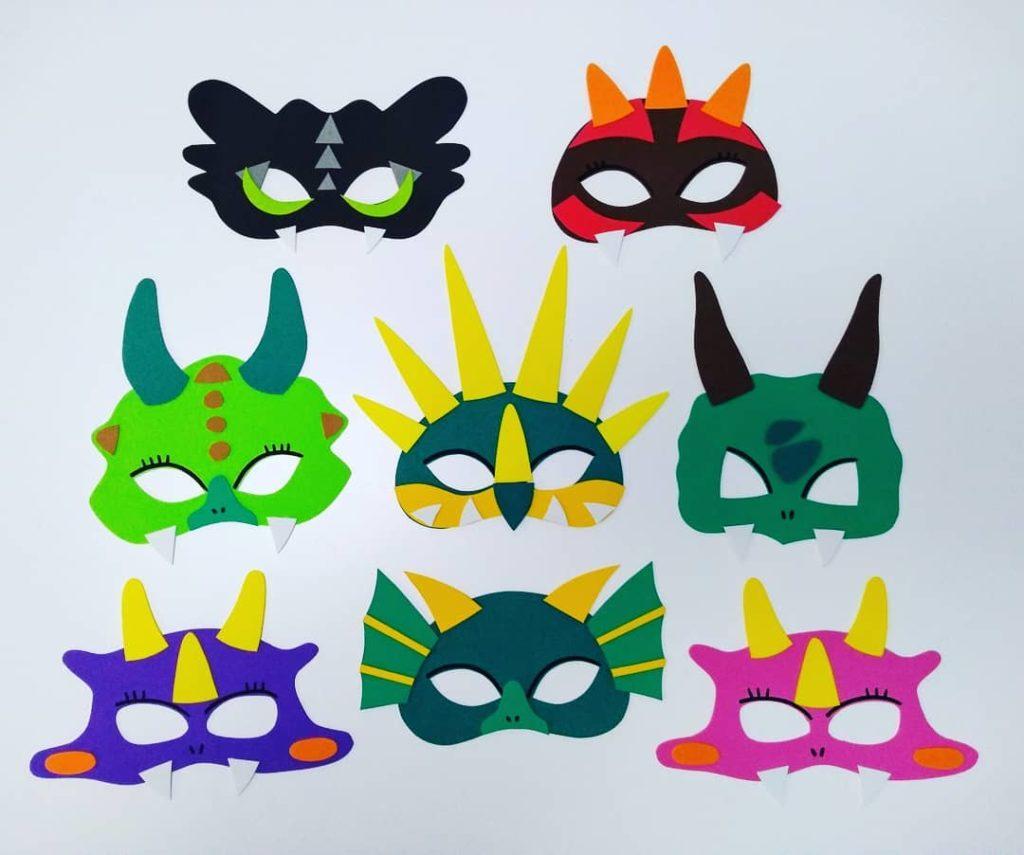 mascaras de dinosaurio