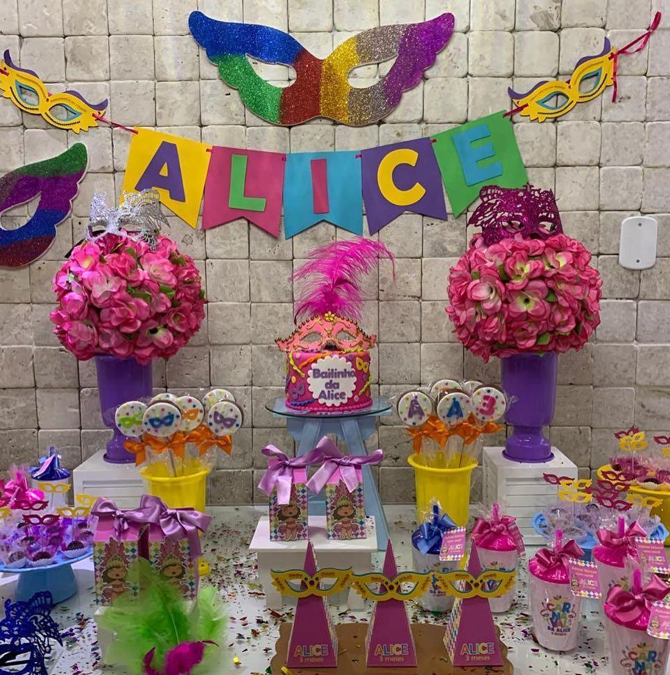 mesa de dulces de carnaval